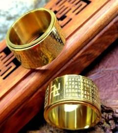 Nhẫn Bát Nhã Tâm Kinh Mạ Vàng Cao Cấp Chính Hãng